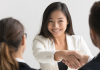 un entretien d'embauche